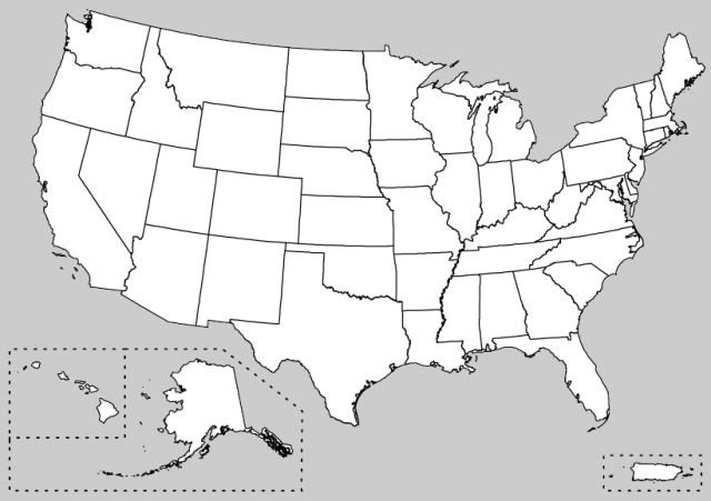 Maps Usa Map Unlabeled - Simplue us map states